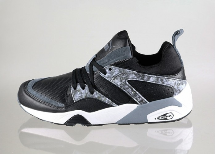Мужские кроссовки Puma Blaze of Glory *Marble Pack* (Black - Turbulence - White) | Интернет-магазин Sole