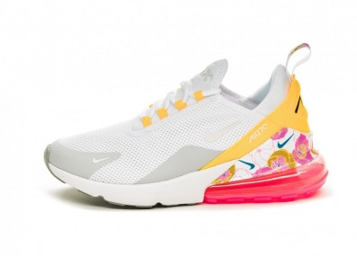 Кроссовки Nike Wmns Air Max 270 SE Floral (White / Summit White - Metallic Silver)