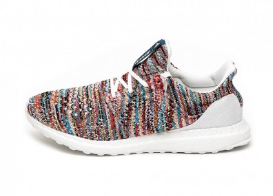 Кроссовки adidas x Missoni Ultra Boost (Ftwr White / Shock Cyan / Active Red)