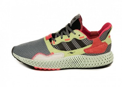Кроссовки adidas ZX 4000 4D (Grey Three / Core Black / Hi Res Yellow)