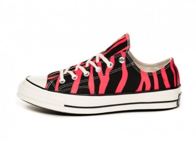 Кеды Converse Chuck Taylor All Star 70 OX *Archive Print* (Black / Racer Pink / Egret)