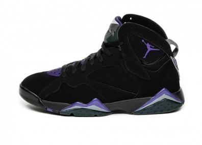 Кроссовки Nike Air Jordan 7 Retro *Ray Allen* (Black / Field Purple - Fir - Dark Steel Grey)