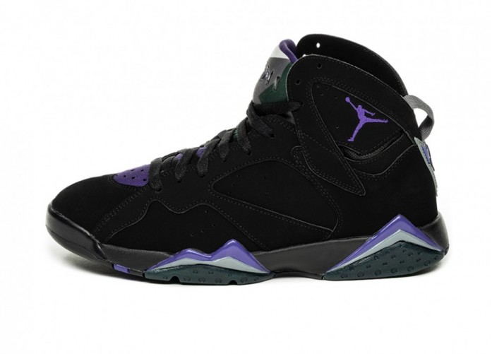 Кроссовки Nike Air Jordan 7 Retro *Ray Allen* (Black / Field Purple - Fir - Dark Steel Grey) | Интернет-магазин Sole