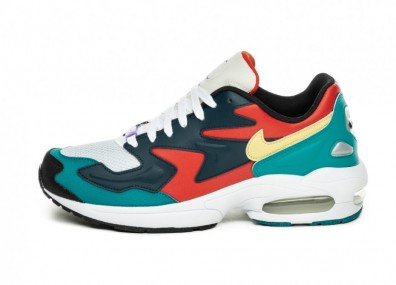 Кроссовки Nike Air Max² Light SP (Habanero Red / Armory Navy - Radiant Emerald)