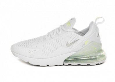 Кроссовки Nike Air Max 270 (White / Metallic Silver - Volt)