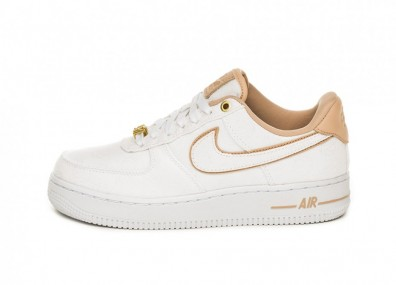 Кроссовки Nike Wmns Air Force 1 '07 LX (White / Bio Beige - White - Metallic Gold)