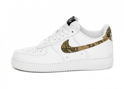 Кроссовки Nike Air Force 1 Low Retro PRM QS *Ivory Snake* (White / Elemental Gold - Dark Hazel - Black)