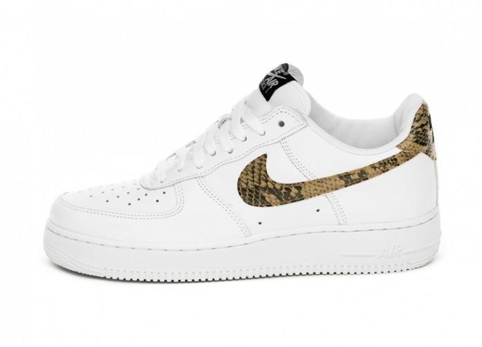 Кроссовки Nike Air Force 1 Low Retro PRM QS *Ivory Snake* (White / Elemental Gold - Dark Hazel - Black)   Интернет-магазин Sole