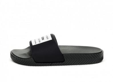 Тапочки adidas x Alexander Wang Adilette Lycra (Core Black / Core Black / Core White)