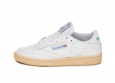 Кроссовки Reebok Club C 85 (White / Athletic Blue / Red)