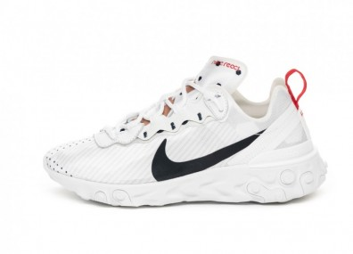 Кроссовки Nike Wmns React Element 55 PRM *Unité Totale* (White / Midnight Navy - Metallic Red Bronze)