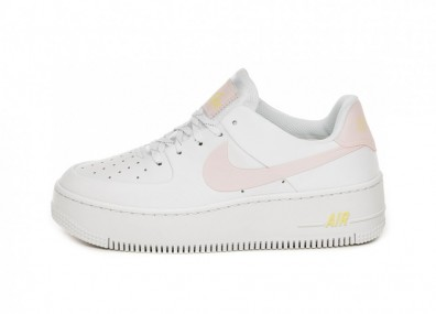 Кроссовки Nike Wmns Air Force 1 Sage (White / Optic Yellow - Pale Pink)