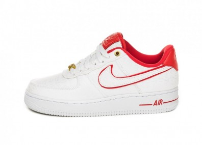 Кроссовки Nike Wmns Air Force 1 '07 LX (White / University Red - White - White)