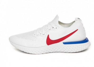 Кроссовки Nike Epic React Flyknit 2 BRS (White / University Red - Racer Blue)