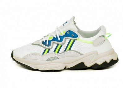 Кроссовки adidas Ozweego (Ftwr White / Grey One / Shock Yellow)