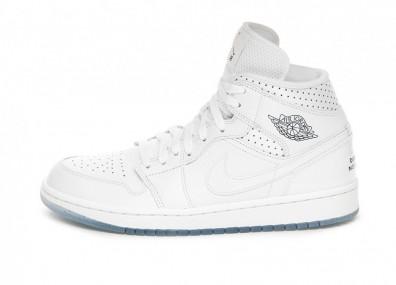 Кроссовки Nike Wmns Air Jordan 1 Mid *Unité Totale* (White / Midnight Navy - Metallic Red Bronze)
