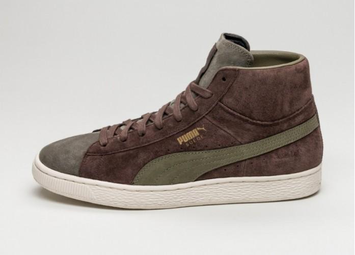 Мужские кроссовки Puma x Bobbito Suede Mid (Chestnut / Burnt Olive / Gold) | Интернет-магазин Sole