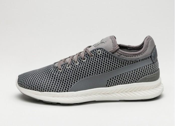 Мужские кроссовки Puma Ignite Sock Knit (Steel Gray / Puma White) | Интернет-магазин Sole