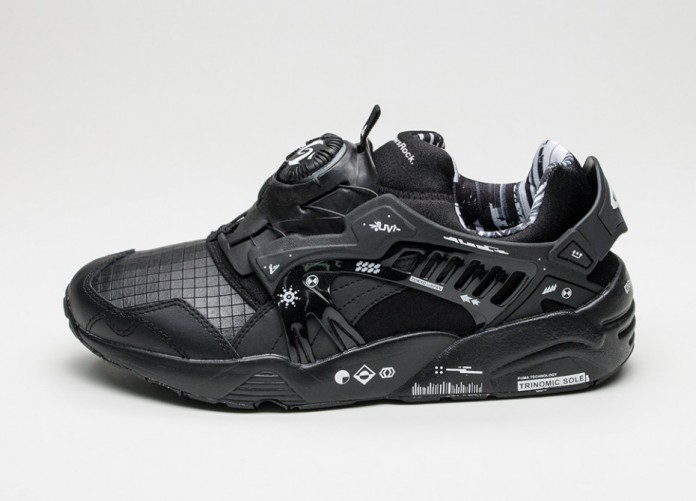 Мужские кроссовки Puma x Graphersrock Disc (Black)   Интернет-магазин Sole