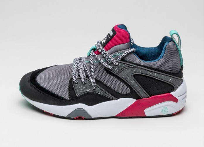 Мужские кроссовки Puma X Crossover Blaze Of Glory (Steel Gray / Black / Rose Red) | Интернет-магазин Sole