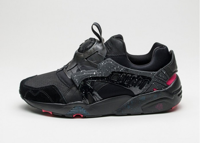 Мужские кроссовки Puma x Crossover Disc Blaze (Black - Rose Red) | Интернет-магазин Sole