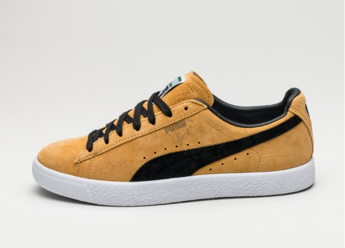 Мужские кроссовки Puma Clyde (Bright Gold / Puma Black) | Интернет-магазин Sole