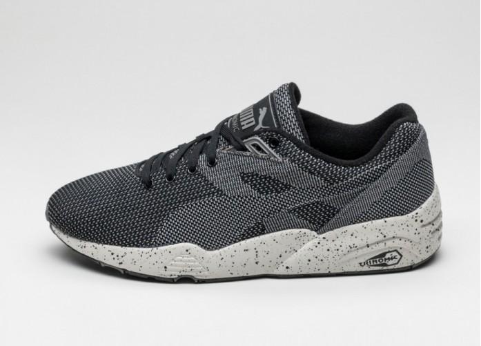 Мужские кроссовки Puma R698 Knit Mesh v2 FLTRD (Black) | Интернет-магазин Sole
