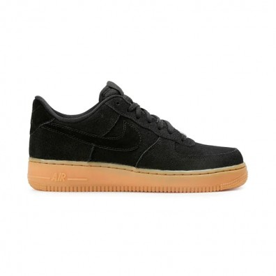 Женские кроссовки Nike Wmns Air Force 1 07 Suede - Black/Gum