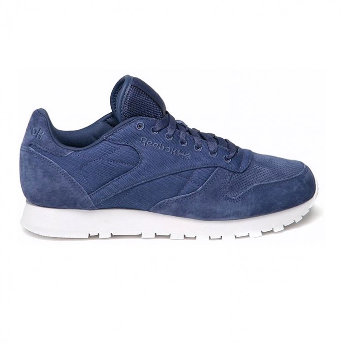 Мужские кроссовки Reebok Classic Leather CC - Midnight Blue / White | Интернет-магазин Sole