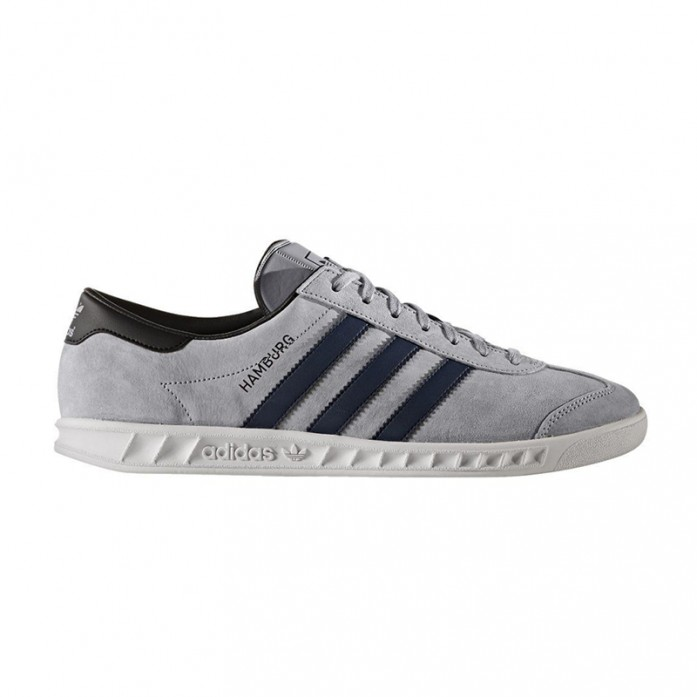 Мужские кроссовки adidas Originals Hamburg - Grey/Navy/White | Интернет-магазин Sole