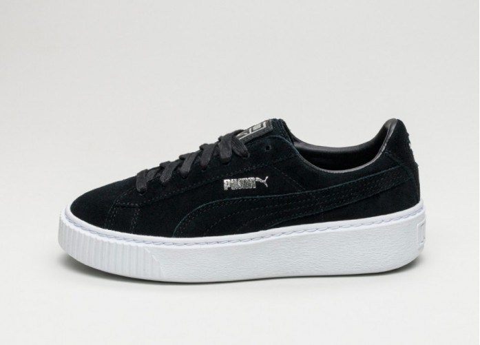Мужские кроссовки Puma Suede Platform (Puma Black / Puma Black / Puma White) | Интернет-магазин Sole
