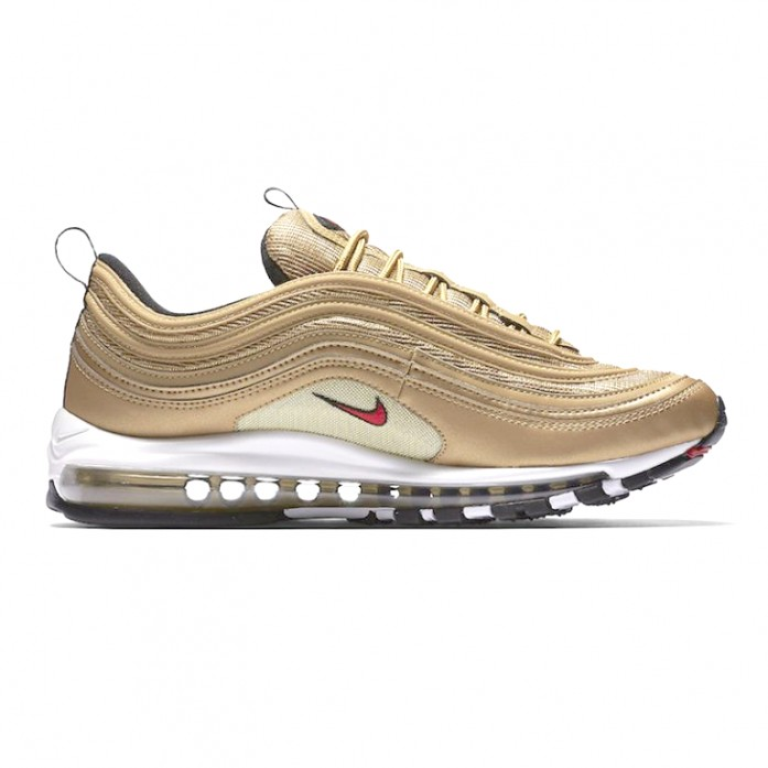 Мужские кроссовки Nike Air Max 97 QS OG - Metallic gold/Varsity red | Интернет-магазин Sole