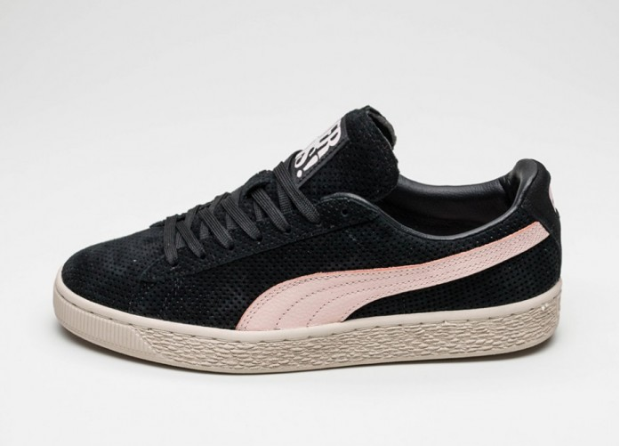 Мужские кроссовки Puma Suede Valentine *His* (Black - Veiled Rose - Birch) | Интернет-магазин Sole