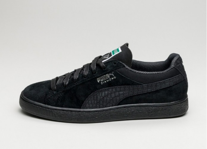 Мужские кроссовки Puma x Diamond Supply Classic Suede (Puma Black / Puma Black) | Интернет-магазин Sole