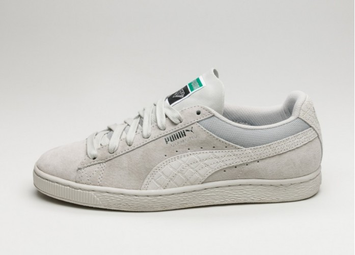 Мужские кроссовки Puma x Diamond Supply Classic Suede (Puma White / Puma White) | Интернет-магазин Sole