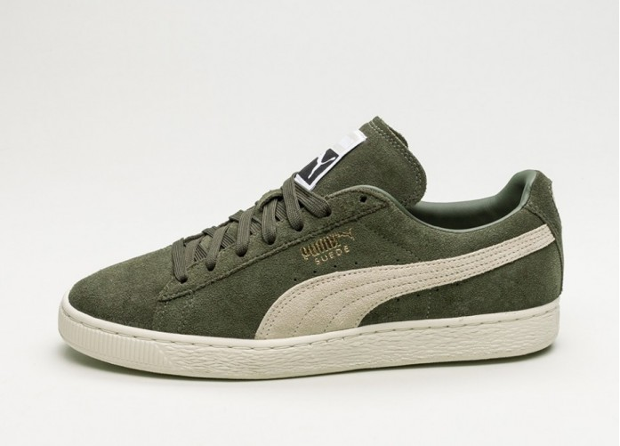 Мужские кроссовки Puma Suede Classic+ (Olive Night / Birch) | Интернет-магазин Sole