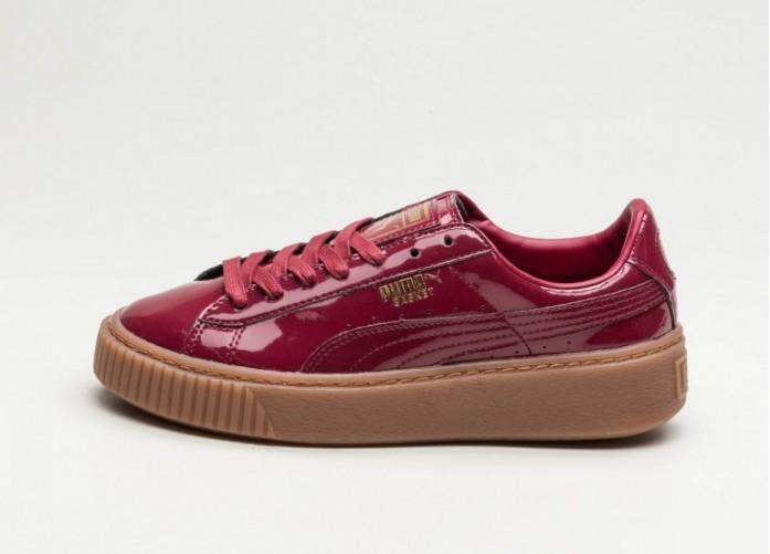 Мужские кроссовки Puma Basket Platform Patent (Tibetan Red / Tibetan Red) | Интернет-магазин Sole