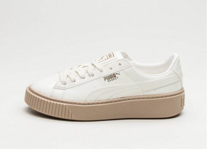 Мужские кроссовки Puma Basket Platform Patent (Marshmallow / Marshmallow) | Интернет-магазин Sole