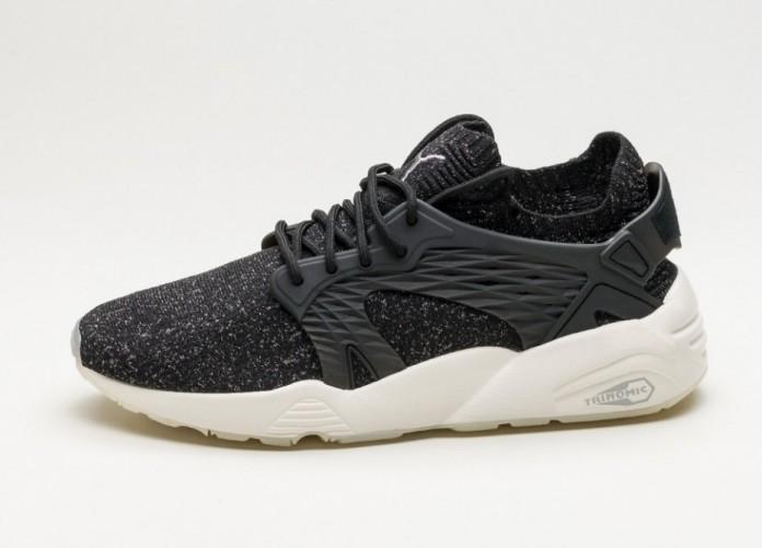 Мужские кроссовки Puma Blaze Cage evoKnit (Puma Black / Steel Gray / Whisper White) | Интернет-магазин Sole