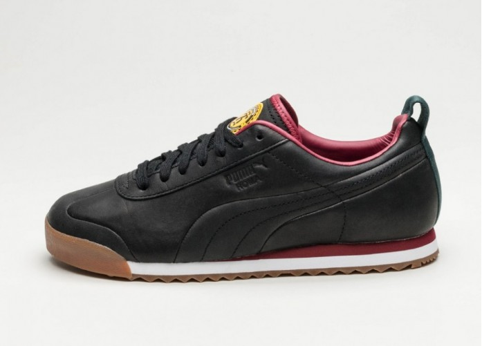 Мужские кроссовки Puma x Daily Paper Roma Leather (Puma Black / Puma Black) | Интернет-магазин Sole