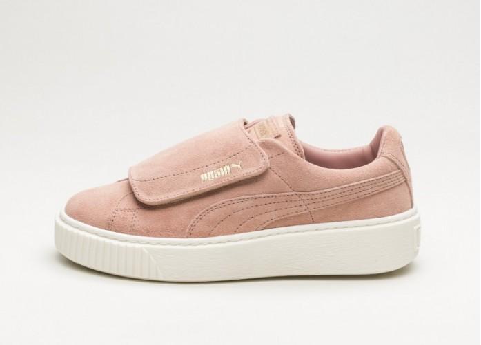 Мужские кроссовки Puma Suede Platform Strap (Cameo Brown / Cameo Brown / Marshmallow) | Интернет-магазин Sole