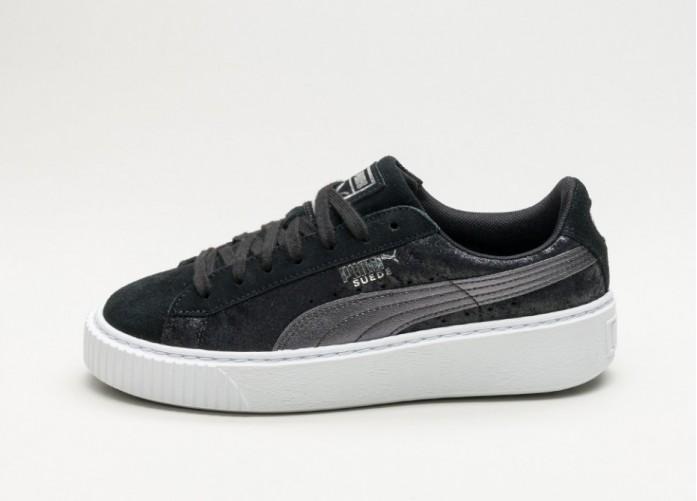 Мужские кроссовки Puma Suede Platform Safari (Puma Black / Puma Black) | Интернет-магазин Sole