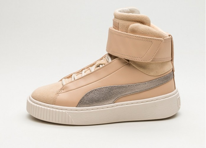 Мужские кроссовки Puma Basket Platform Mid Up (Natural Vachetta / Birch) | Интернет-магазин Sole
