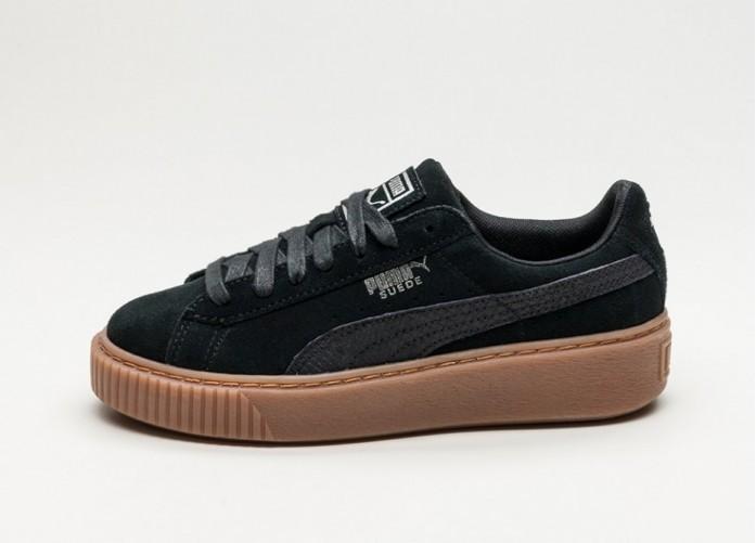 Мужские кроссовки Puma Suede Platform Animal (Puma Black / Silver) | Интернет-магазин Sole