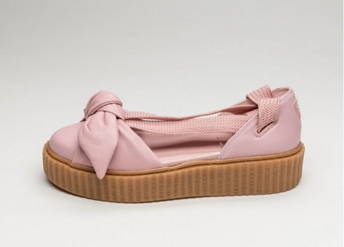 Мужские кроссовки Puma x Fenty Bow Creeper Sandal (Silver Pink / Silver Pink / Oatmeal) | Интернет-магазин Sole