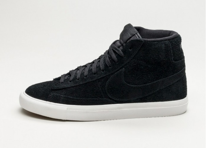 Мужские кроссовки Nike Blazer Mid (Black / Black - Summit White) | Интернет-магазин Sole