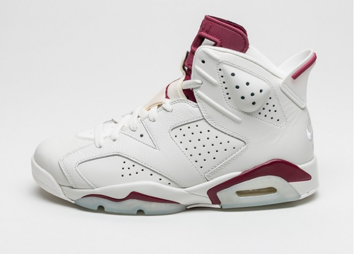 Мужские кроссовки Nike Air Jordan 6 Retro (Off White / New Maroon) | Интернет-магазин Sole