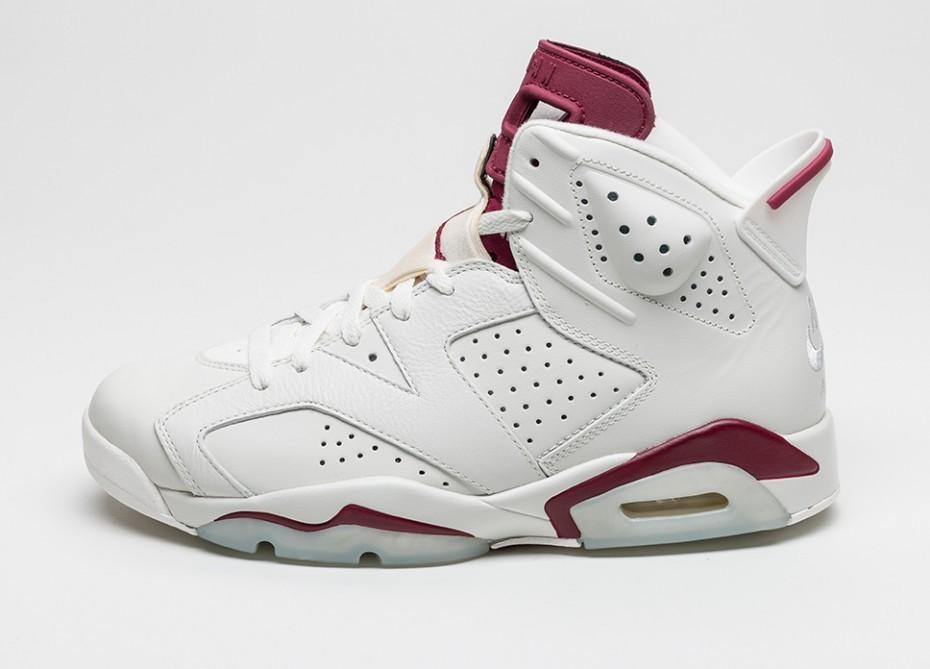 Мужские кроссовки Nike Air Jordan 6 Retro (Off White   New Maroon)    Интернет 7c60268a846