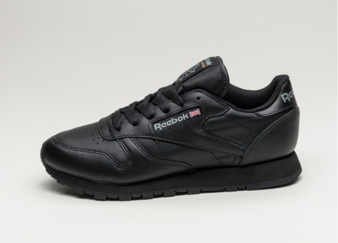 Мужские кроссовки Reebok Classic Leather (Black) | Интернет-магазин Sole