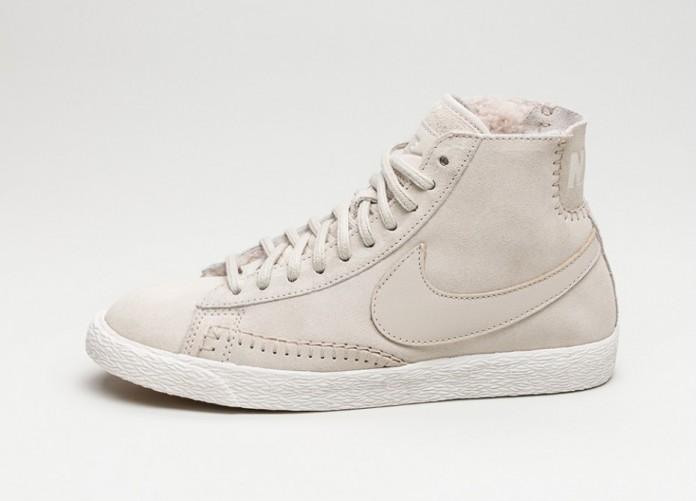 Женские кроссовки Nike Wmns Blazer Mid PRM *Sherpa Pack* (Birch / Birch - Ivory - Gum Light Brown) | Интернет-магазин Sole